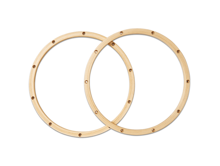 PDAXWH1410C - 20-Ply Maple Wood Hoops for Snare Drum, 1 Pair